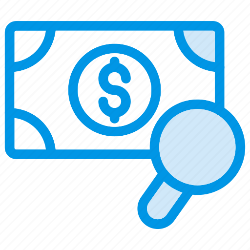 currency, dollar, magnifier, search icon