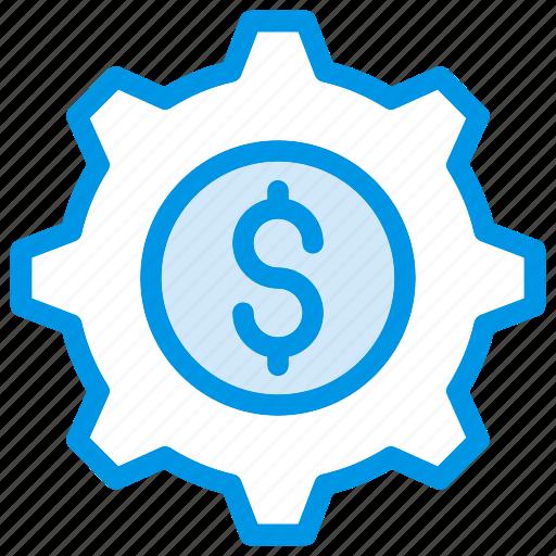 config, dollar, gear, setting icon