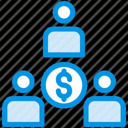 employee, group, leadership, team icon