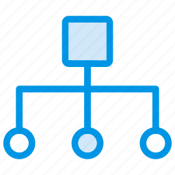 connection, distribution, link, network icon