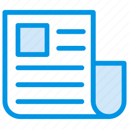 article, news, press, reading icon