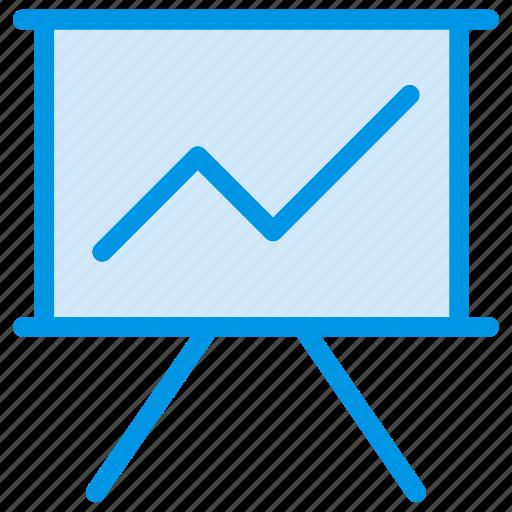 board, graph, presentation, statistics icon