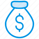 bag, dollar, money, saving icon