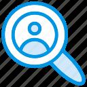 account, magnifer, search, user icon