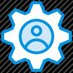 config, configuration, setting, user icon