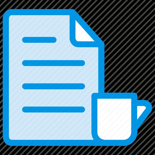 coffee, document, file, tea icon