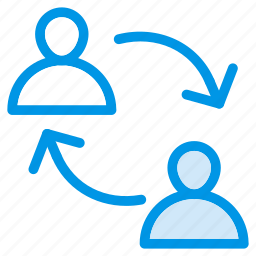 communicate, connect, reload, user icon