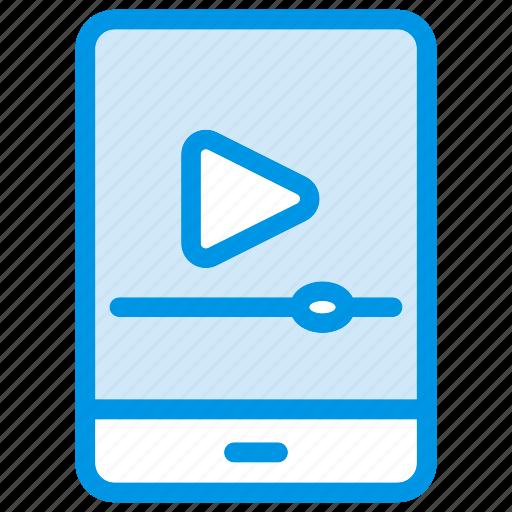 media, mobile, player, video icon