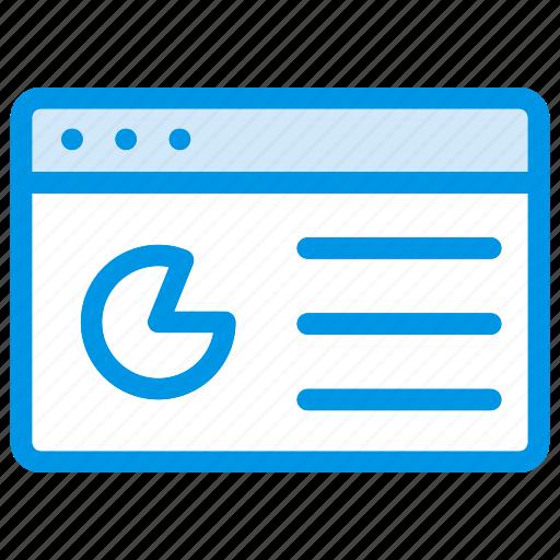 browser, graph, internet, webpage icon