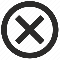cancel, close, interface icon