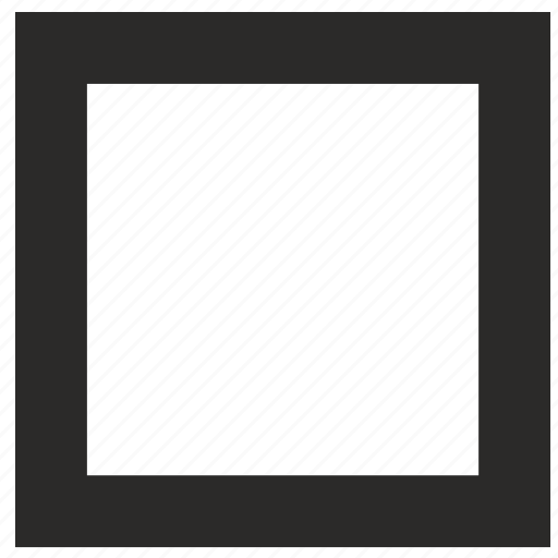 checkbox, empty, interface icon