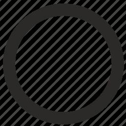 empty, interface, radiobutton icon