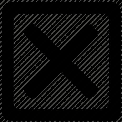 cancel, check, delete, exit, form icon