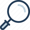 details, find, magnifying glass, scan, search, zoom icon
