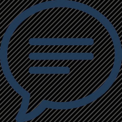 Bubble, chat, comment, conversation, message, speech, talk icon - Download on Iconfinder