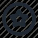 star, badge, circle, rating