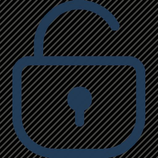 open, password, pin, unlock icon