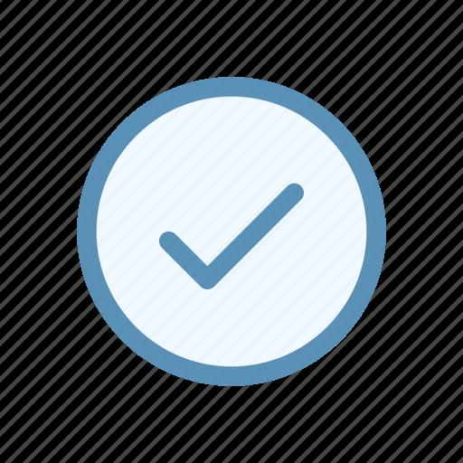 action, check, circle, interface, navigation, user icon