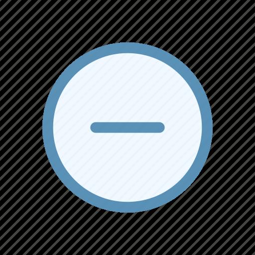 action, circle, interface, minus, navigation, user icon