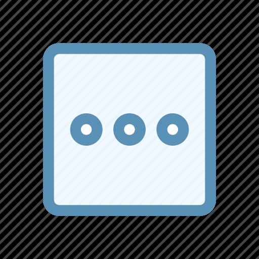 box, circle, horizontal, interface, menu, navigation, user icon