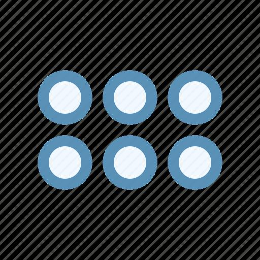 circle, double, horizontal, interface, menu, navigation, user icon
