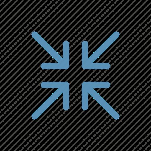 compress, interface, navigation, resize, user icon