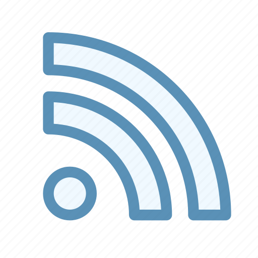 interface, navigation, rss, user icon