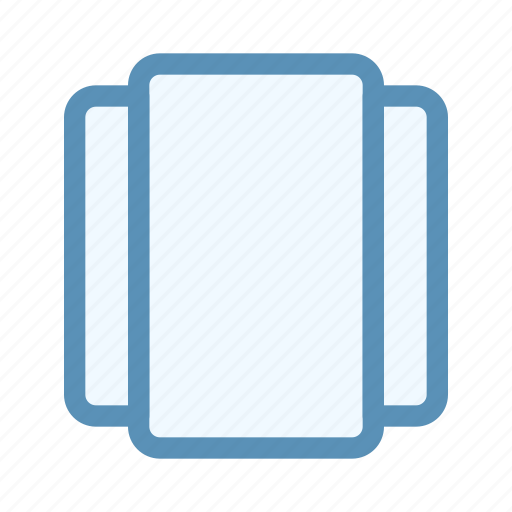 interface, navigation, switch, tab, user, vertical icon