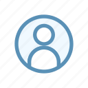 circle, interface, navigation, user icon