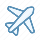 airplane, interface, mode, notification, user icon