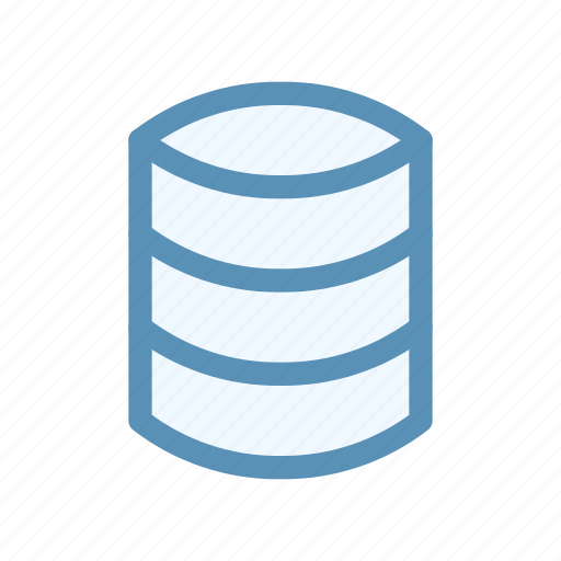 database, interface, system, user icon