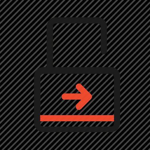 arrow, closed, key, lock, open, right, unlock icon