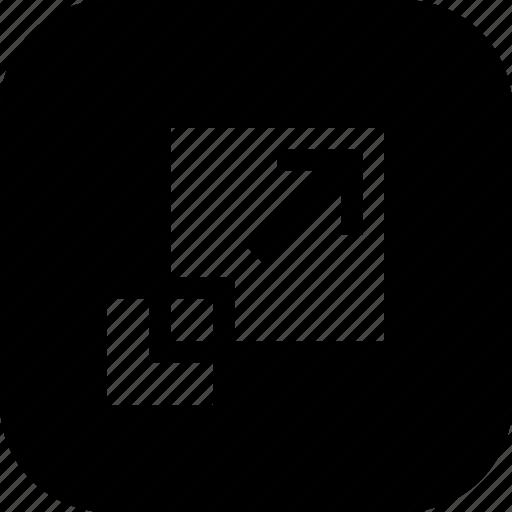 expand, reshape, scale, scaletool, scaling, tool icon