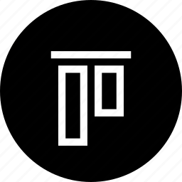 align, center, interface, top, vertical, vertically icon