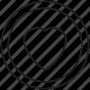 circle, favorite, heart, interface, love icon icon