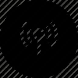 antena, interface, signal, waves, wifi, wireless icon