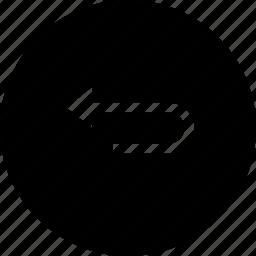 arrow, interface, left, round, straight, turn, ui icon