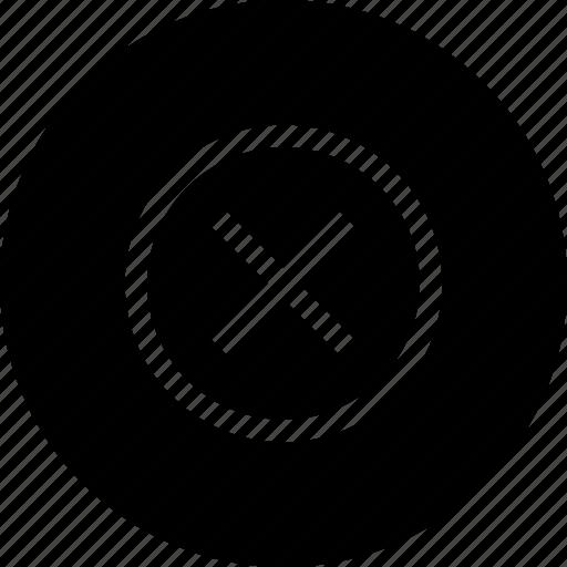 clean, cross, delete, junk, remove, round icon