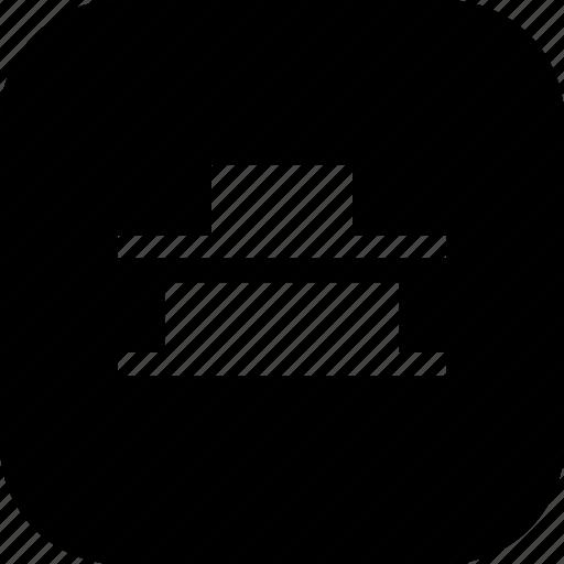 align, alignment, bottom, center, distribute, ui, vertical icon