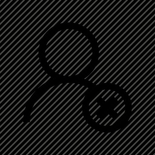 ban user, delete user, friend delete, friend remove, remove, user remove, user001 icon