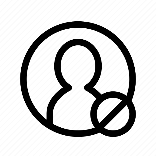 block, denied, lock, user block, user denied, user lock icon
