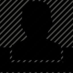 avatar, box, client profile, man, member, person, user account icon