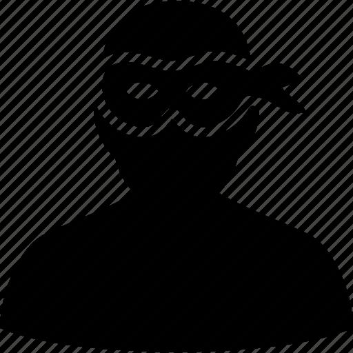 cia spy, fbi agent, hacker, mask, secret service, security, thief icon