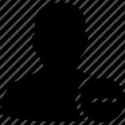 delete, delete user, erase, male, man, profile, remove, trash, user icon