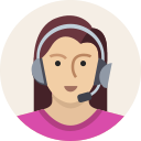 avatar, female, headset, mic, support, user, woman icon
