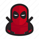 deadpool, marvel, mask, mutant, red, sword, x-men icon