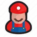 game, gamer, luigi, mario, nintendo, plumber, video icon