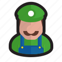 hat, luigi, mansion, mario, nintendo, plumber, video game icon