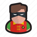 batman, dc, mask, nightwing, robin, superhero icon