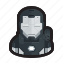 armor, iron man, iron patriot, machine, superhero, war, war machine icon